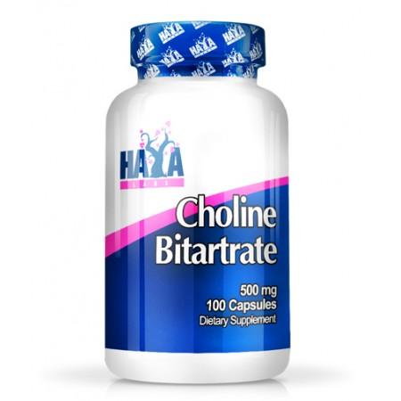 HAYA LABS Choline Bitartrate 500mg / 100 Caps.