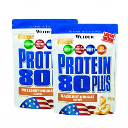 СТАК 2 бр Protein 80 Plus - 500 гр