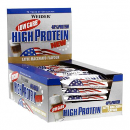 WEIDER Low Carb High Protein Bar - 24 x 50 гр